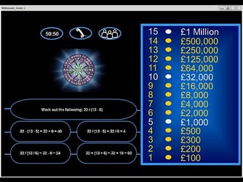 Who Want To Be A Millionaire Template by Who Wants To Be A Millionaire Quiz Template Who Wants To