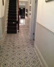 encaustic tiles barcelona 460 in hallway stairs
