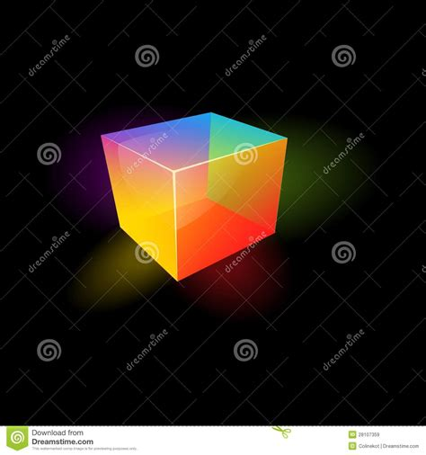 colored glass cube royalty  stock images image