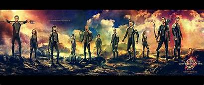 Fire Hunger Games Catching Tribute Panem Wallpapers