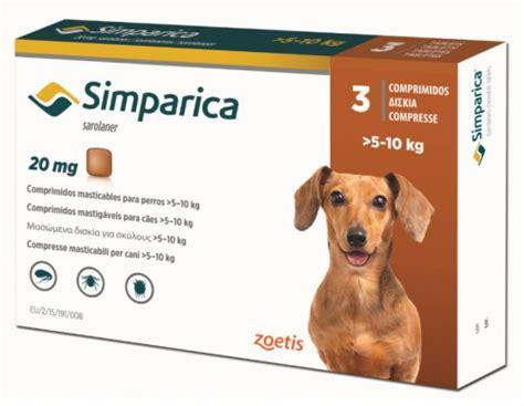 zoetis simparica  mg  dogs     kg