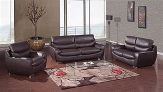 modern livingroom sets chocolate bonded leather contemporary living room set buffalo york gf2219