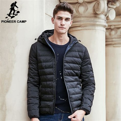 Buy Winter Light Thin Down Coat Men Brand Clothing Solid