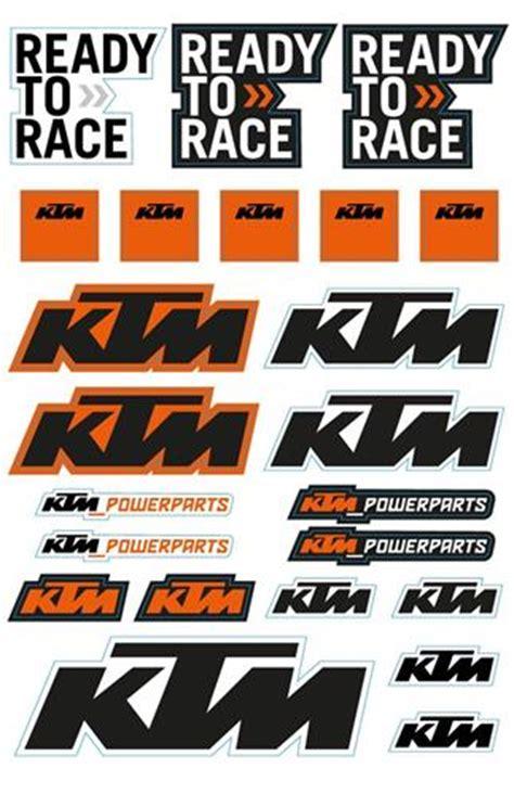 buy ktm sticker sheet set  triple  motosport uk