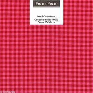 Pro Des Mots 508 : coupon tissu frou frou rubis clatant vichy 508 50 x 50 cm coupon de tissus creavea ~ Maxctalentgroup.com Avis de Voitures