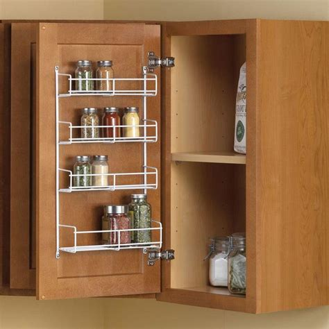 wall kitchen cabinets best 25 door mounted spice rack ideas on 3667