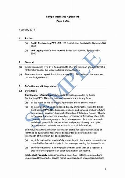 Internship Agreement Sample Template Legal Lawpath Under