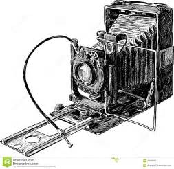 Old Vintage Camera Drawing