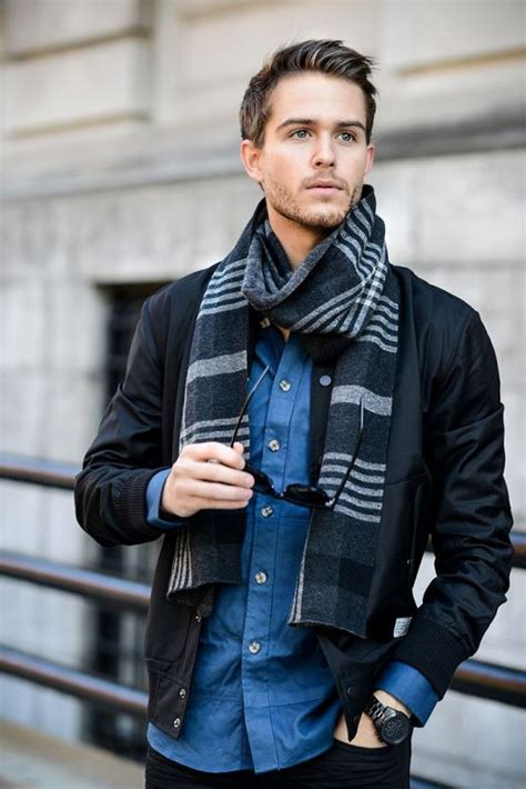 Picture Men Scarves Inspiration Stylish Fall Looks