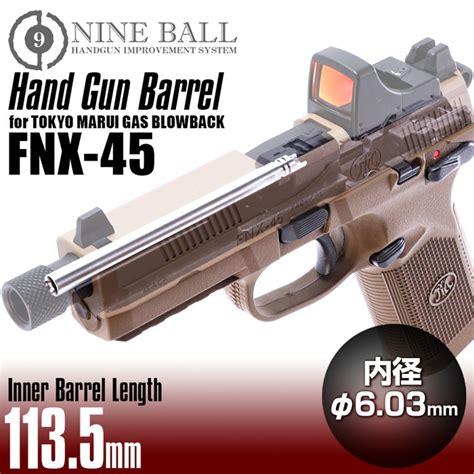 Gas Blowback TM FNX-45 HANDGUN BARREL 113.5mm - Skirmshop