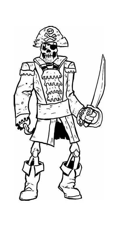 Skeleton Pirate Coloring Pages Drawing Pirates Drawings