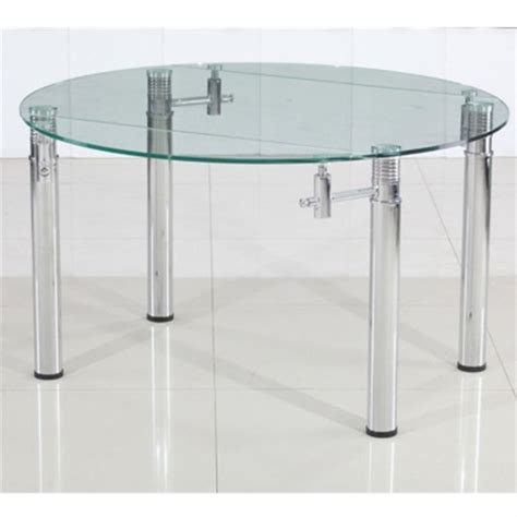 table cuisine en verre table rabattable cuisine table ronde extensible