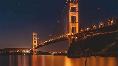 Gate Bridge Golden Francisco San 4k Night