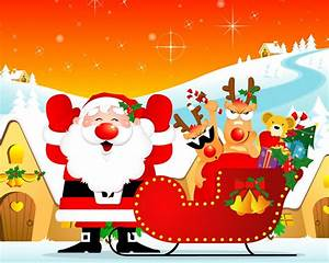 Merry Christmas Cute Santa Wallpaper - HD Wallpapers