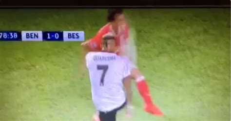 VIDEO: Benfica Defender Knocked Out Cold After Getting ...