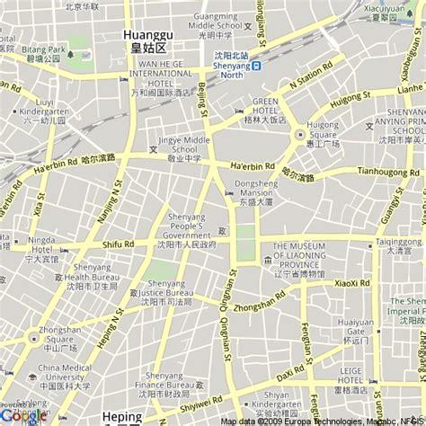 Map Of Shenyang, China