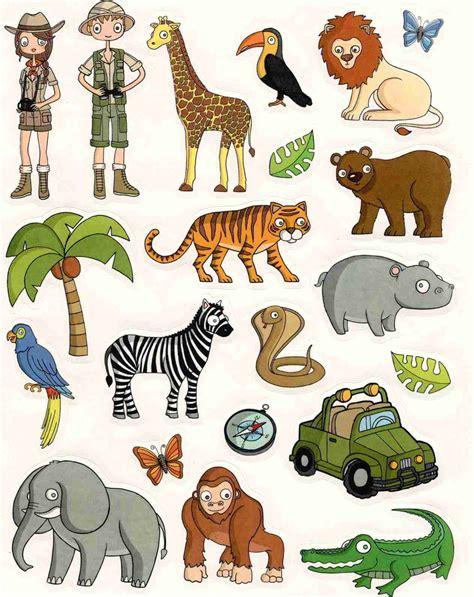 chambre foret gommettes animaux de la jungle 16x21cm magommette