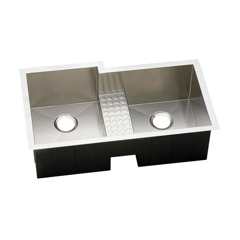 36 undermount stainless steel kitchen sink elkay lustertone undermount stainless steel 36 in 8985