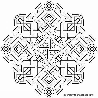 Coloring Geometric Geometry Pages Sacred Illuminati Adult