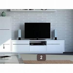 Tv Wandhalterung Ausziehbar 150 Cm : meuble tv blanc 150 cm ~ Yasmunasinghe.com Haus und Dekorationen