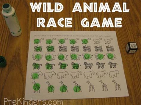 animals activities and lesson plans for pre k and 458 | dice race game1