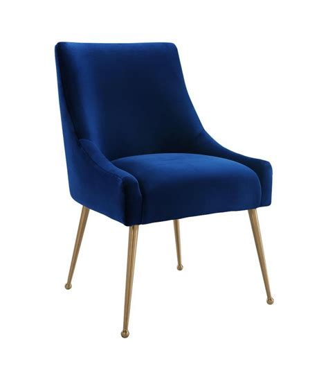 convertable blue velvet accent chair