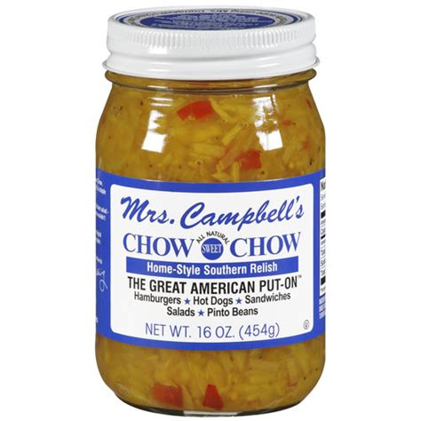 chow chow relish mrs cbell s chow chow all natural sweet home style southern relish 16 oz walmart com