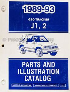 1993 Geo Tracker Illustrated Parts Catalog 93 Chevrolet