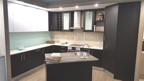 Black Gloss Kitchen Ideas - pvc wrap doors diycupboards com