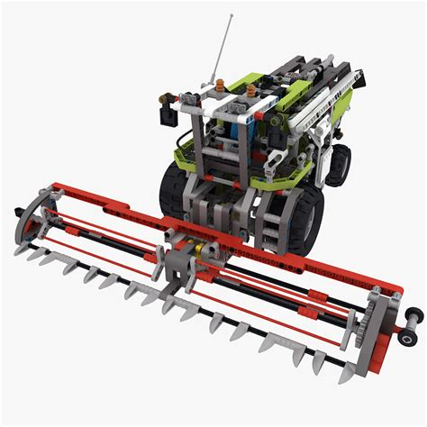 Lego Technic Combine by 3d Model Lego Technic Combine Harvester