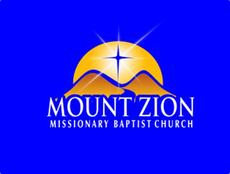 mount zion missionary baptist church logo design