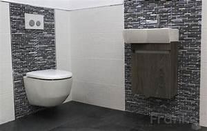 Kleiner Waschtisch Gäste Wc : 25 best fliesen im schwarz wei look images on pinterest badezimmer badezimmerideen und g ste wc ~ Sanjose-hotels-ca.com Haus und Dekorationen