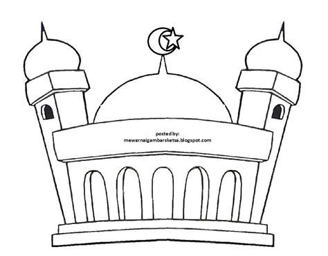 Kumpulan Gambar Gambar Masjid Untuk Anak Tk Paling Bagus