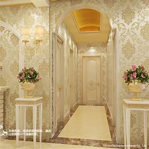 Non Woven Damask Wall paper Roll Modern Luxury Wallpapers ...