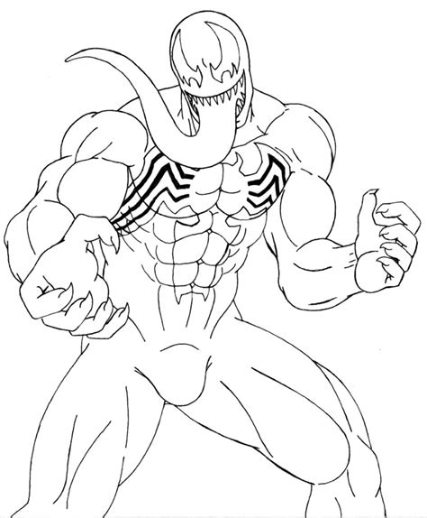 venom coloring pages venom lineart  tuf
