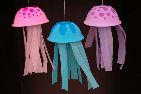 paper bowl jellyfish kids crafts fun craft ideas