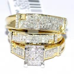 trio wedding ring set trio wedding rings set his and rings set real rings for and