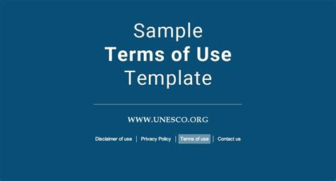 Term Of Use Template by Sle Terms Of Use Template Termsfeed
