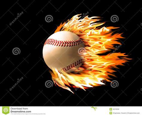 baseball  fire stock illustration image  baseball