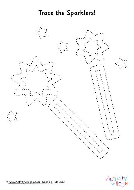 sparklers tracing page