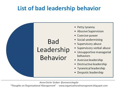 behavior list how are bad leadership behavior influencing employees