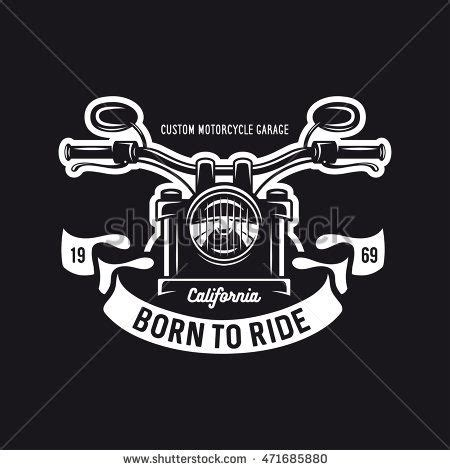 vintage motorcycle t shirt graphics born to ride quote vector illustration stock