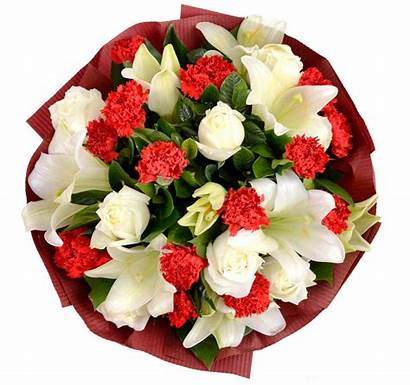 Bouquet Carnations Bouquets Lilies C03 Delightfully Hand
