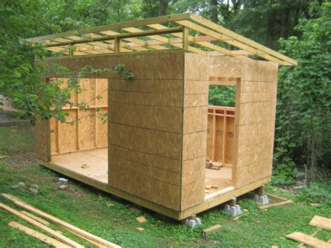 diy modern shed project modern wood working  backyard