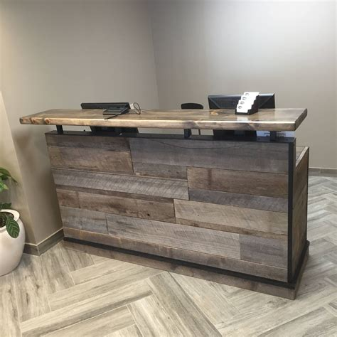 beautiful custom built reception desk  authentic