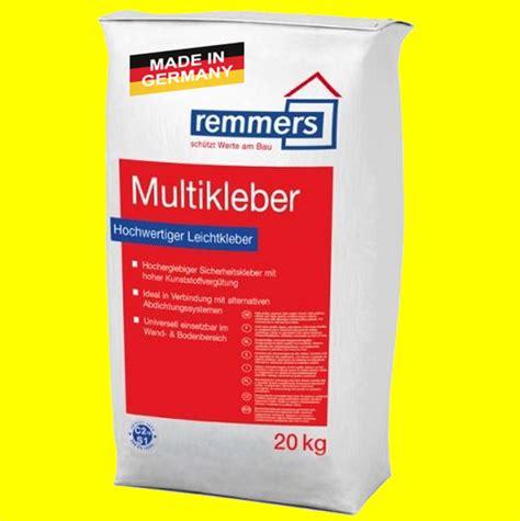 Fliesenkleber Remmers by 20 Kg Remmers Multikleber Fliesenkleber D 252 Nnbettkleber