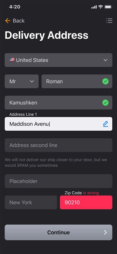 inputs text fields figma ios ui kit