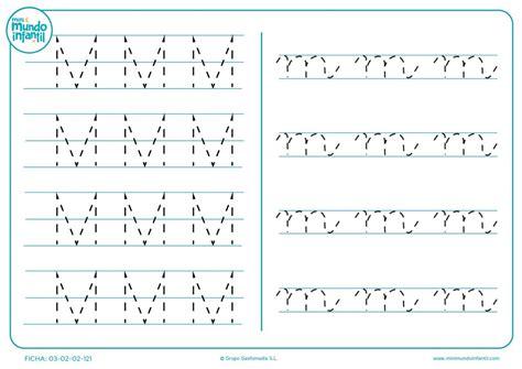 completar grafomotricidad de la letra m en may 250 scula y m en min 250 scula