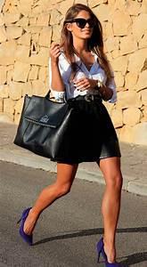 Zapatos morados como combinarlos - Mujer Chic