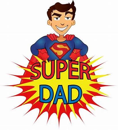 Dad Father Clipart Cartoon Animated Superdad Transparent